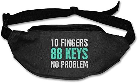 ピアノ10本の指88キー問題なしユニセックスアウトドアファニーパックバッグベルトバッグスポーツウエストパック