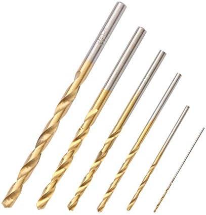 60 stücke Mini Schnellarbeitsstahl Überzug Titan Gerade Hand Spiralbohrer Werkzeug Ideal für Bohrarbeiten und Materialien