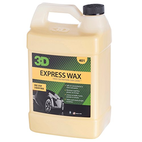 3D Express Wax - 1 Gallon | One Step Liquid Wax | No Powder Residue or Streaking | Use as Dry Wash or Liquid Detailer | Safe on Conventional & Clearcoat Paints