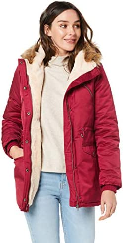 All About Eve Women's Taylor Coat, Dark Plum, 12: