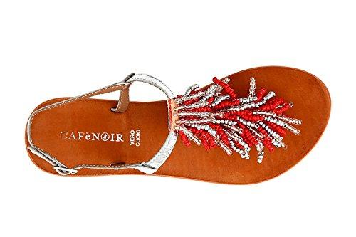 Sandalo Kgb105 Cafè Accessorio Cafènoir Noir Con Corallo Infradito tF6Rq