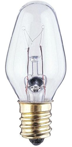 Philips Clear Night Light 7-watt C7 Candelabra Base Light Bulb, 8 Count ()