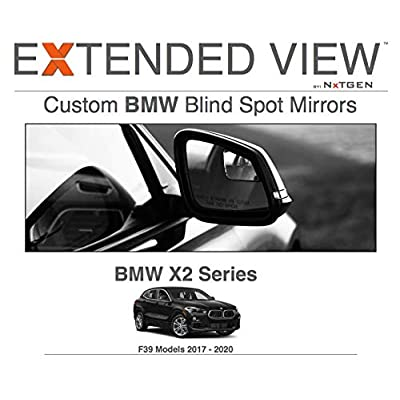 Blind Spot Mirrors- Compatible with BMW X2 F39 Extended View: Automotive
