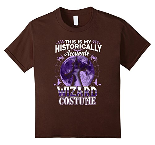 [Kids Wizard Costume Halloween Shirt My Historically Accurate Cool 10 Brown] (Homemade Adult Halloween Witch Costumes)