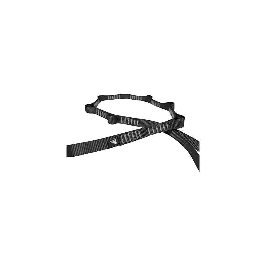 "Fusion Climb 7 Loop Standard Daisy Chain 5000 lb Test Stitched Nylon Webbing 43"" x 0.75"" Black"