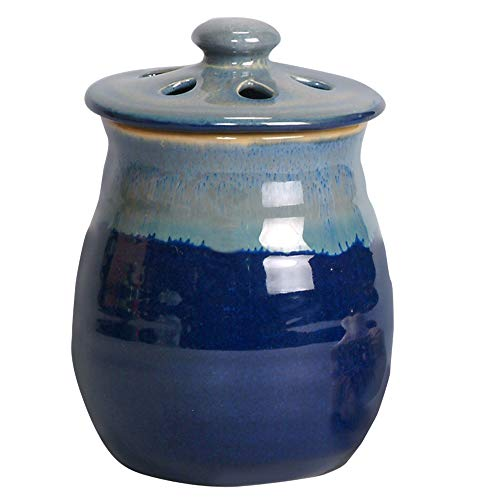 Le Creuset Garlic - Tumbleweed Pottery Garlic Clove Canister Keeper with Vented Lid