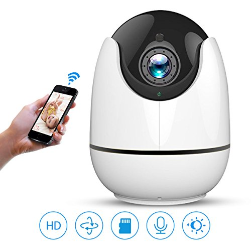 WIFI IP Camera, AOGE 1080P Wireless Indoor Home Security Surveillance Camera for Baby Monitor Dog Pet Camera with Auto Tracking,2 Way Audio, Motion Dectection,Pan/Tilt, Night Vision,APP Remote Control