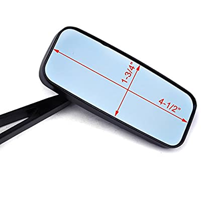 Black Motorcycle Side View Mirrors for Harley Davidson Sportster 883 1200 Street Bob: Automotive