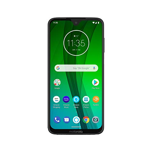 Moto G7 with Alexa Hands-Free – Unlocked – 64 GB – Clear White