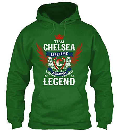 Team Chelsea. M - Irish Green Sweatshirt - Gildan 8oz Heavy Blend Hoodie