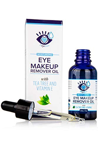 Gentle, Waterproof Eye Makeup Remover – Moisturizing & Organic with Vitamin E and Tea Tree Oil to Support Dry, Itchy…