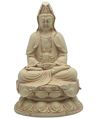 - Kuan-Yin in Meditation Pose on Lotus Statue, Stone