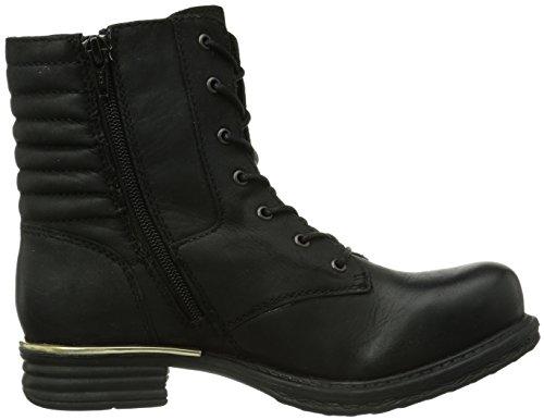 SPM Wodka Damen Biker Boots Schwarz (Black)