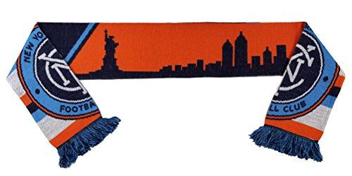 MLS New York City FC Skyline (Split Crest) Scarf, Orange, One Size (Scarf Stadium)