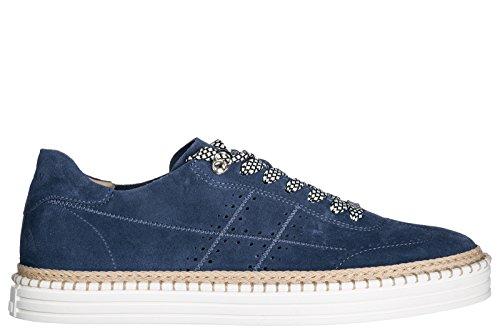 Trainers r260 Hogan Suede Sneakers Shoes Men's blu qXtSqw