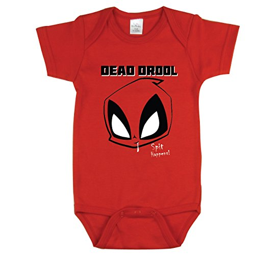 Funny Baby Bodysuit, Cute Outfits, Dead Drool Onsie, Red 3-6 m]()