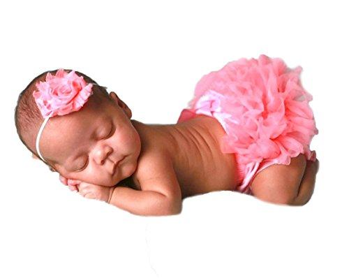 UPC 637262707912, Cutie Baby Baby Girls Chiffon Bloomer, Diaper Cover, Ruffles Bloomer (X-Small-New Born, Rose Pink)