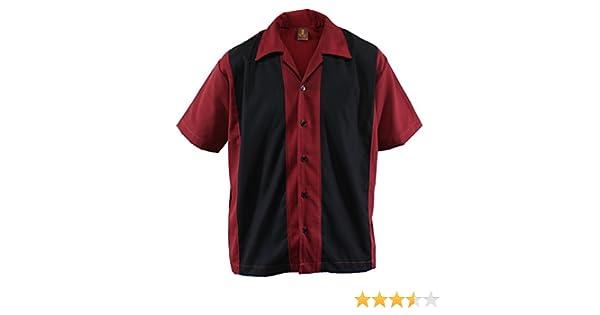Aloha-Beachwear - Camisa de hombre de estilo bowling de doble panel Lounge Gabardine Retro 50s Rockabilly: Amazon.es: Ropa y accesorios