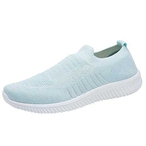 OrchidAmor 2019 Basic Non-Slip Women's Leisure Comfortable Flyknit A Pedal Athletic Sneakers Cozy Shoes Light Blue