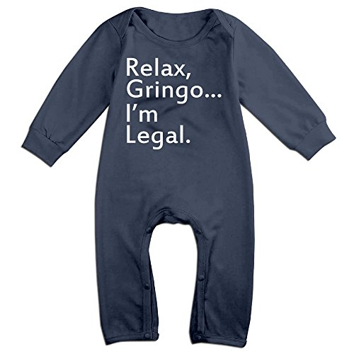 HOHOE Babys Relax, Gringo... I'm Legal Long Sleeve Romper Bodysuit Outfits 18 - Dvd Baby Nba