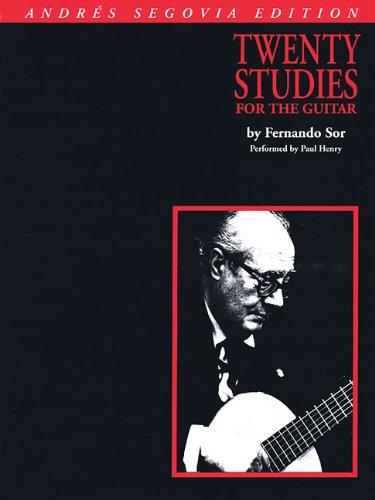 Fernando Sor Classical Guitar Book - Andres Segovia - 20 Studies for Guitar: Book Only