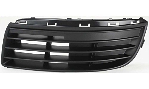 DAT 05-10 VOLKSWAGEN JETTA BLACK WITHOUT FOG LIGHT HOLES FRONT BUMPER COVER GRILLE GRILL LEFT DRIVER SIDE VW1036108