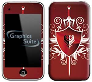 Red Shield Skin for Apple iPod Touch 2G or 3G by lolosakes