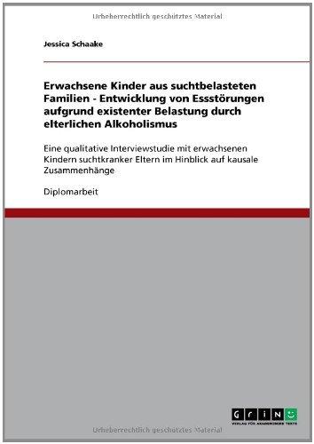 Download Erwachsene Kinder aus suchtbelasteten Familien – Entwicklung von Essstörungen aufgrund existenter Belastung durch elterlichen Alkoholismus (German Edition) Pdf