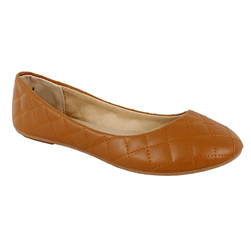 Quilted Ballet Flats Shoes - 4