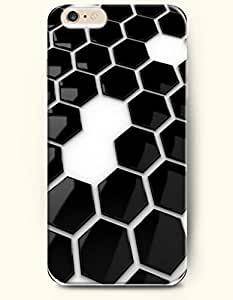 Apple iPhone 6 Case ( 4.7 inches) with Design of Black And White Hexagon Pattern - Honeycomb Pattern -OOFIT Authentic iPhone Skin by lolosakes by lolosakes