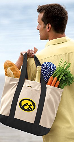 Broad Bay Iowa Hawkeyes Tote Bag or OFFICIAL Canvas University of Iowa Totes by Broad Bay