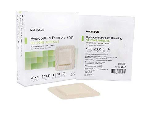 (McKesson Hydrocellular Foam Dressing Silicone Adhesive Border 3
