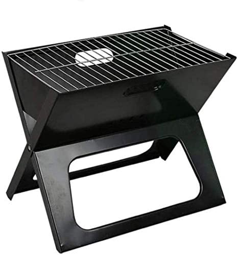 LUCKING Pliant Charcoal Grill Barbecue Grill Portable BBQ Épaissir X-Type Carbone Mini Grill Vertical Ménage Four Durable Camp Grills