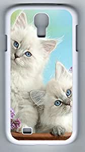 Beautiful Burmese Kittens Hard Cover Back Case For Samsung Galaxy S4,PC White Case for Samsung Galaxy S4 i9500 WANGJING JINDA