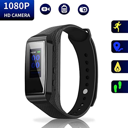 Hidden Camera Bracelet HD Mini Camcorder - Larger Display Version Spy Camera 1080p Wirst Band Sports Spycam LKcare Lens-Shielded Surveillance DVR with Tracker Function