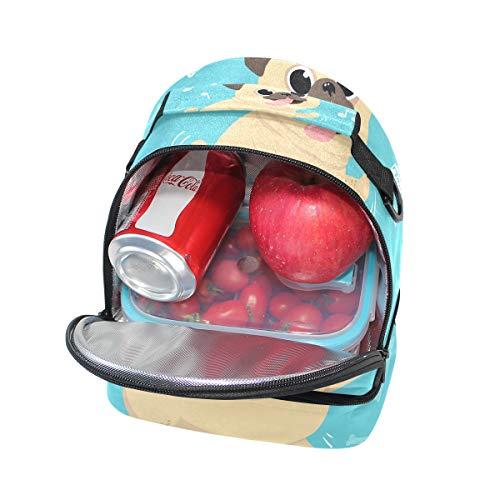 réglable Daning Cooler Sac Carlin à Boîte Cute Pincnic bandoulière Tote Chiot pour avec l'école à lunch isotherme Alinlo 5wzOx0qW