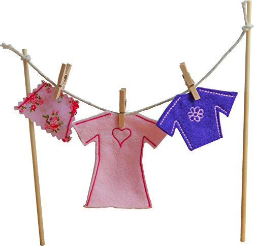 [The Irish Fairy Door Company - Clothes Line with Female Clothes] (Dragon Tales Costume)