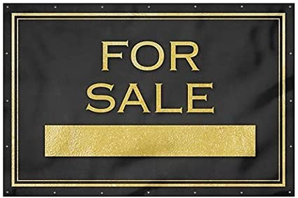 Classic Gold Heavy-Duty Outdoor Vinyl Banner 12x8 CGSignLab for Sale