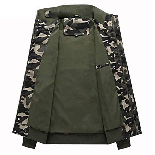 Veste Tactique Hommes Coton Camouflage Militaire Bomber Pilot Vestes Manteaux Vestes Cargo Travail 5