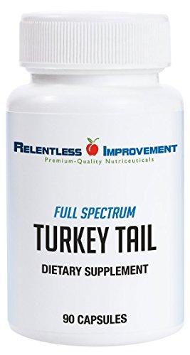 Relentless Improvement Turkey Tail Mushroom | NO FILLERS | Full-Spectrum Mycoproduct | 600mg 90 vegecapsules For Sale