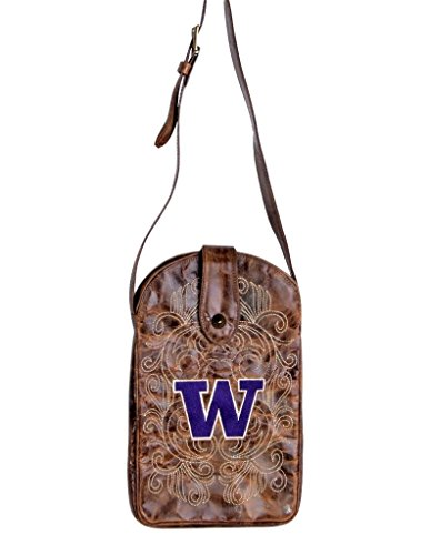 NCAA Washington Huskies Women's Cross Body Purse, Brass, One Size by Gameday Boots