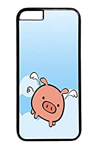 Flying Pig Animal Custom iphone 6 4.7inch Case Cover Polycarbonate black