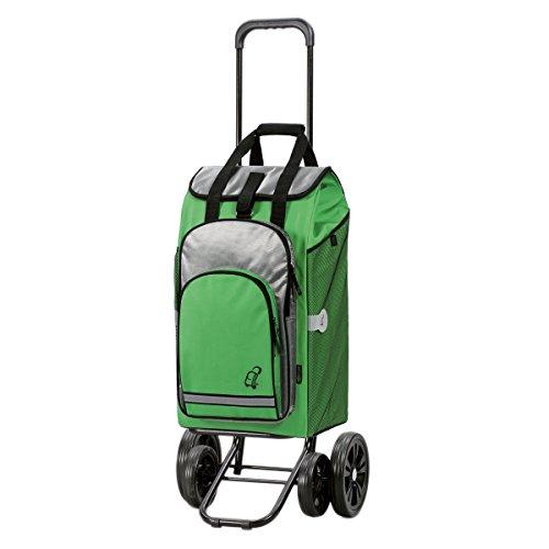 Andersen Quattro Shopper Hydro 4 Räder Thermofach Einkaufstrolley Einkaufsroller (Grün) Grün