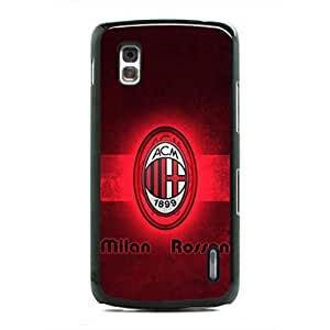 AC Milan Phope Funda,Hard Plastic Phone Funda,Google Nexus 4 Funda,Football Culb Phone Funda