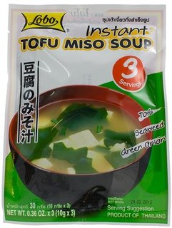 Lobo Instant Miso Soup, Tofu Miso Soup, 1.08 Ounce., Pack of 2 (Korean Beef Recipe Ground Beef)