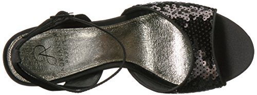 Adrianna Astrid black sequins Papell Sandal Women's Heeled Tq7Tw1r