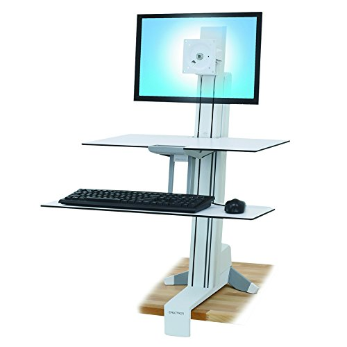 Ergotron 33-350-211 WorkFit-S Single LD with Work Surface and Stand by Ergotron
