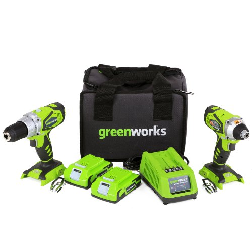 UPC 841821012892, GreenWorks G24 24V Combo Kit Lithium-Ion Drill and Impact Driver