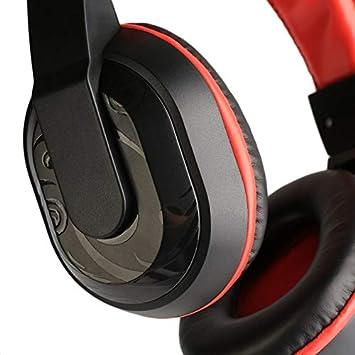 Mouchao 3,5 mm einstellbare Gaming-Kopfh/örer Stereo Noise-Cancelling Computer Headset blau