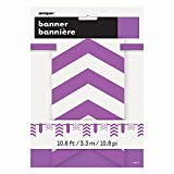 10.8ft Purple Polka Dot & Chevron Flag Banner
